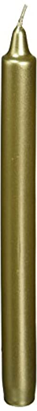 殺人者不正確時折Zest Candle CEZ-105 10 in. Metallic Gold Straight Taper Candles -1 Dozen