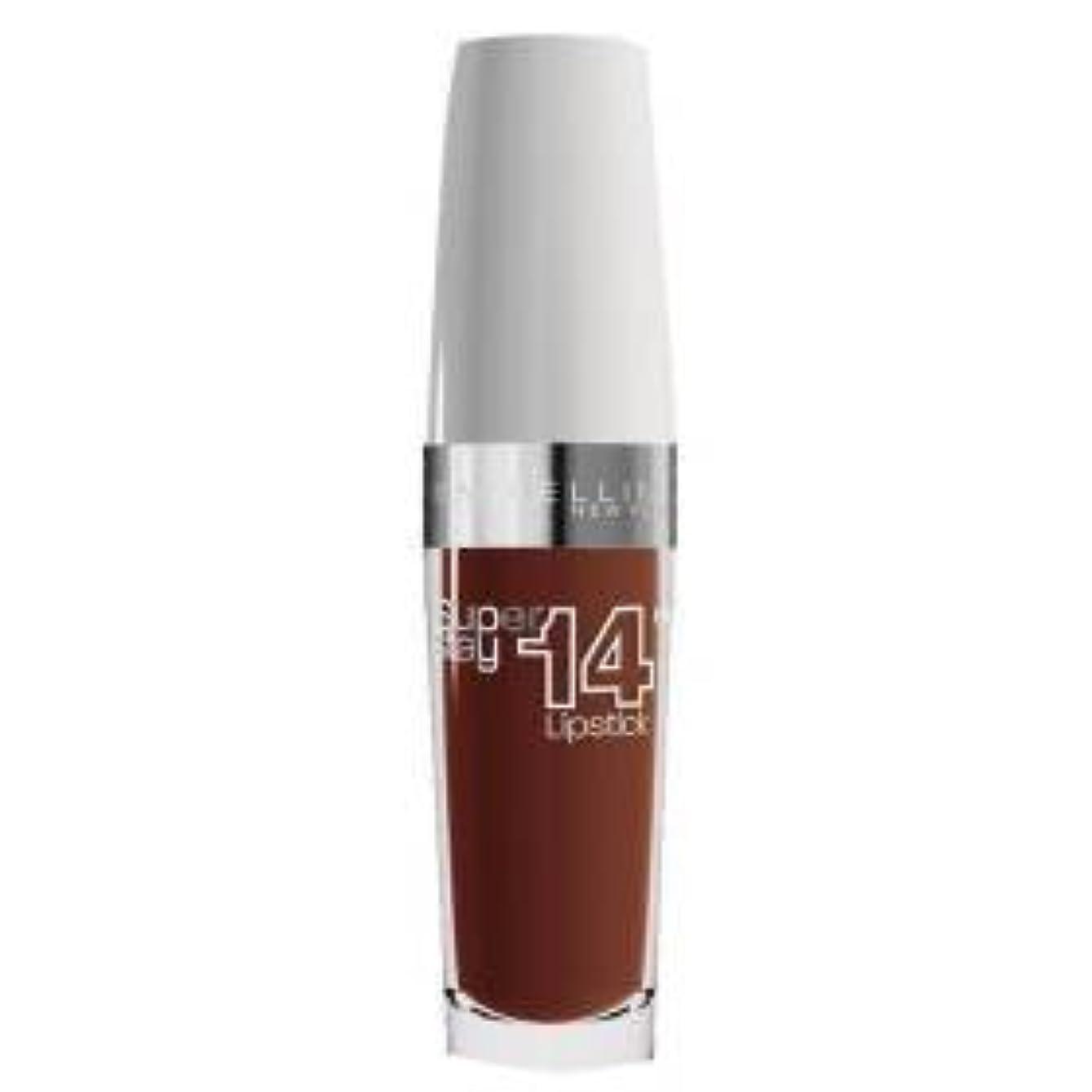 呼吸そう流用するGemey Maybelline superstay 14h rouge a levres n°720 lasting chestnut- (for multi-item order extra postage cost...
