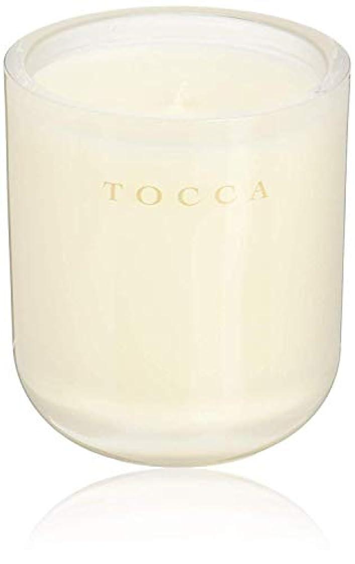 合わせて腕夕食を食べるTOCCA(トッカ) ボヤージュ キャンドル ボラボラ 287g (ろうそく 芳香 バニラとジャスミンの甘く柔らかな香り)