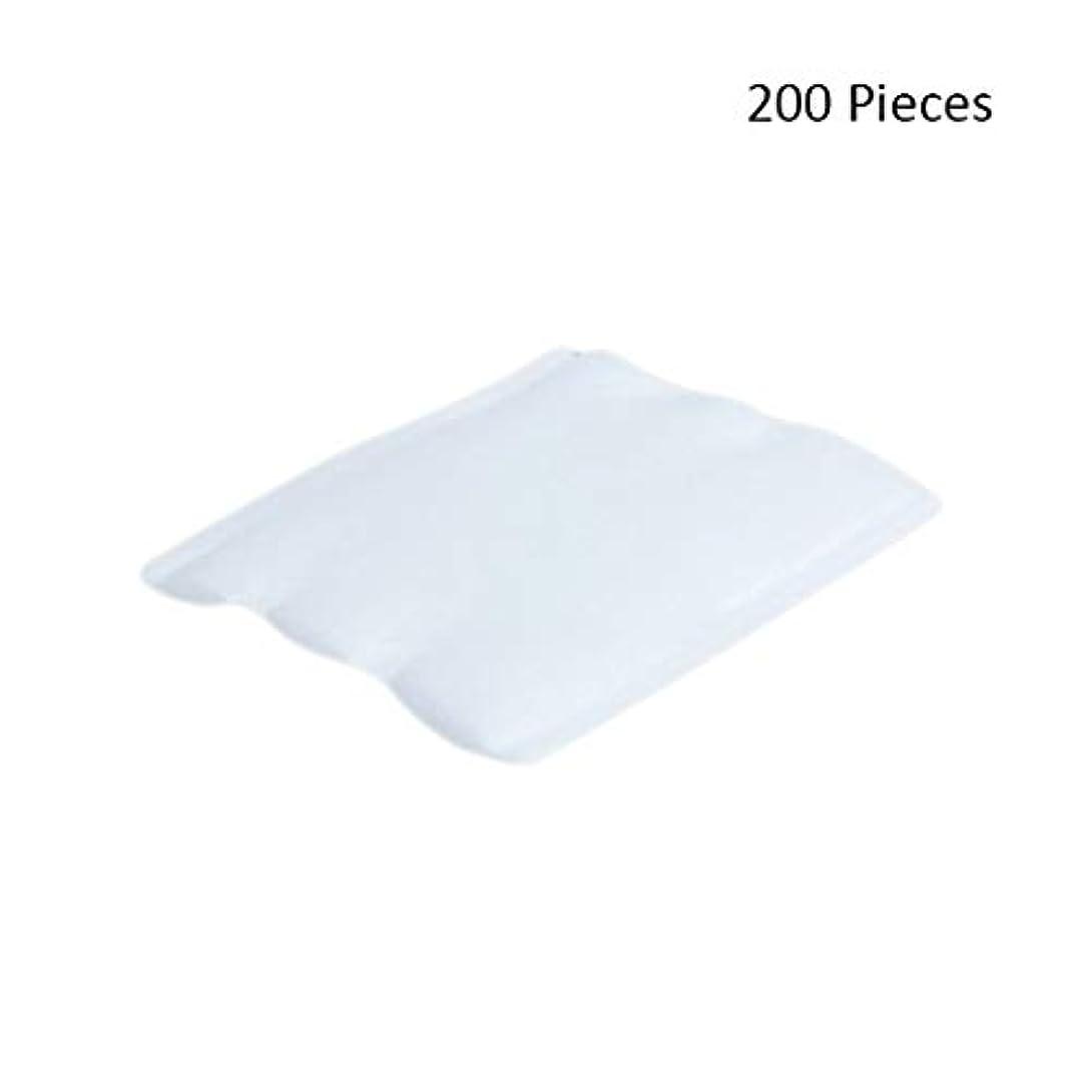 医師省略する用心する200ピースフェイスメイクアップリムーバーオーガニックフェイシャルクレンジングメイクアップ化粧品リムーバーワイプフェイスウォッシュスキンケアコットンパッド (Color : White, サイズ : 6*5cm)