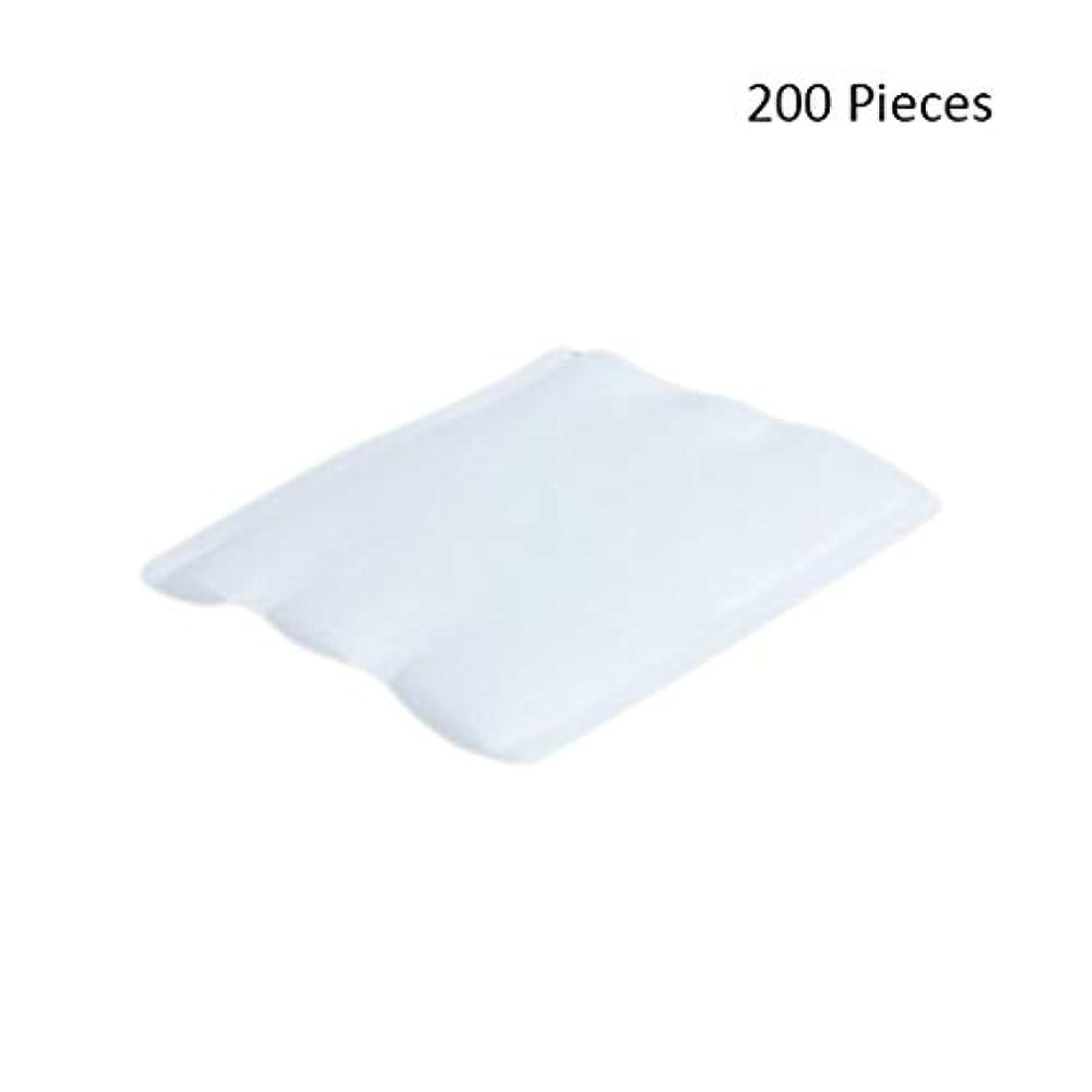 余裕がある不変うなる200ピースフェイスメイクアップリムーバーオーガニックフェイシャルクレンジングメイクアップ化粧品リムーバーワイプフェイスウォッシュスキンケアコットンパッド (Color : White, サイズ : 6*5cm)