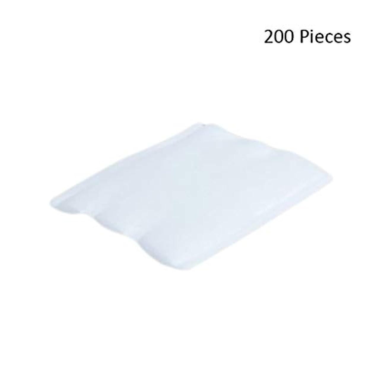 宿泊施設毛布コンバーチブル200ピースフェイスメイクアップリムーバーオーガニックフェイシャルクレンジングメイクアップ化粧品リムーバーワイプフェイスウォッシュスキンケアコットンパッド (Color : White, サイズ : 6*5cm)