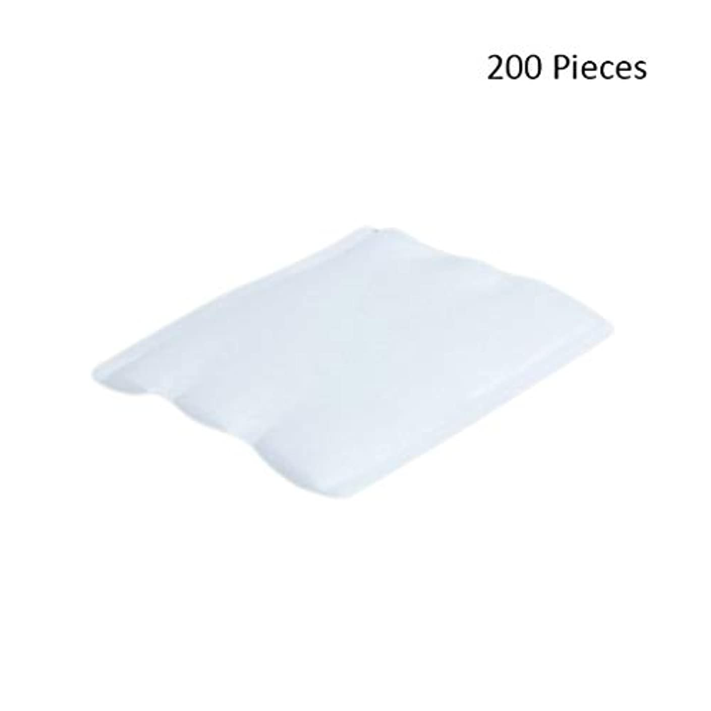 グループ引退した迫害する200ピースフェイスメイクアップリムーバーオーガニックフェイシャルクレンジングメイクアップ化粧品リムーバーワイプフェイスウォッシュスキンケアコットンパッド (Color : White, サイズ : 6*5cm)