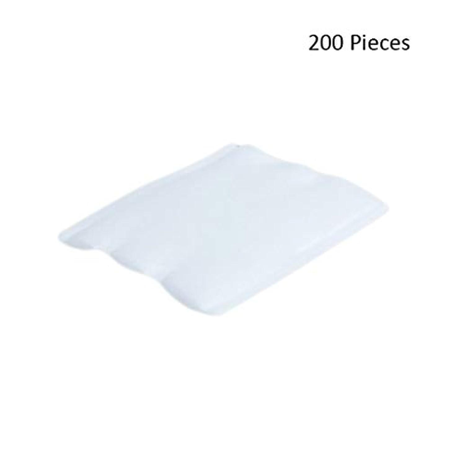 シュート協定セメント200ピースフェイスメイクアップリムーバーオーガニックフェイシャルクレンジングメイクアップ化粧品リムーバーワイプフェイスウォッシュスキンケアコットンパッド (Color : White, サイズ : 6*5cm)