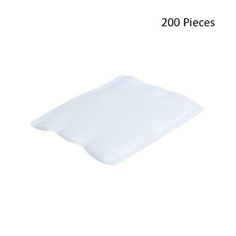 芽緯度ハイキング200ピースフェイスメイクアップリムーバーオーガニックフェイシャルクレンジングメイクアップ化粧品リムーバーワイプフェイスウォッシュスキンケアコットンパッド (Color : White, サイズ : 6*5cm)