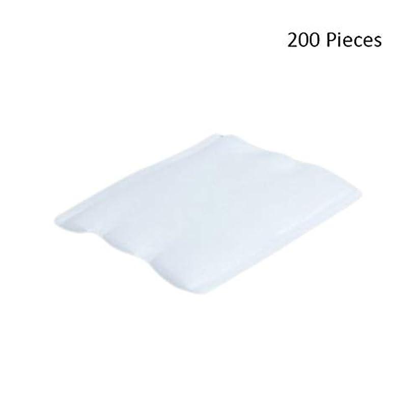 架空の神社エンディングクレンジングシート 200ピースフェイスメイクアップリムーバーコットンパッドフェイシャルカットクレンジングメイクアップパフ化粧品メイクアップリムーバーワイプスキンフェイスウォッシュ 落ち水クレンジング シート モイスト (Color : White, サイズ : 6*5cm)