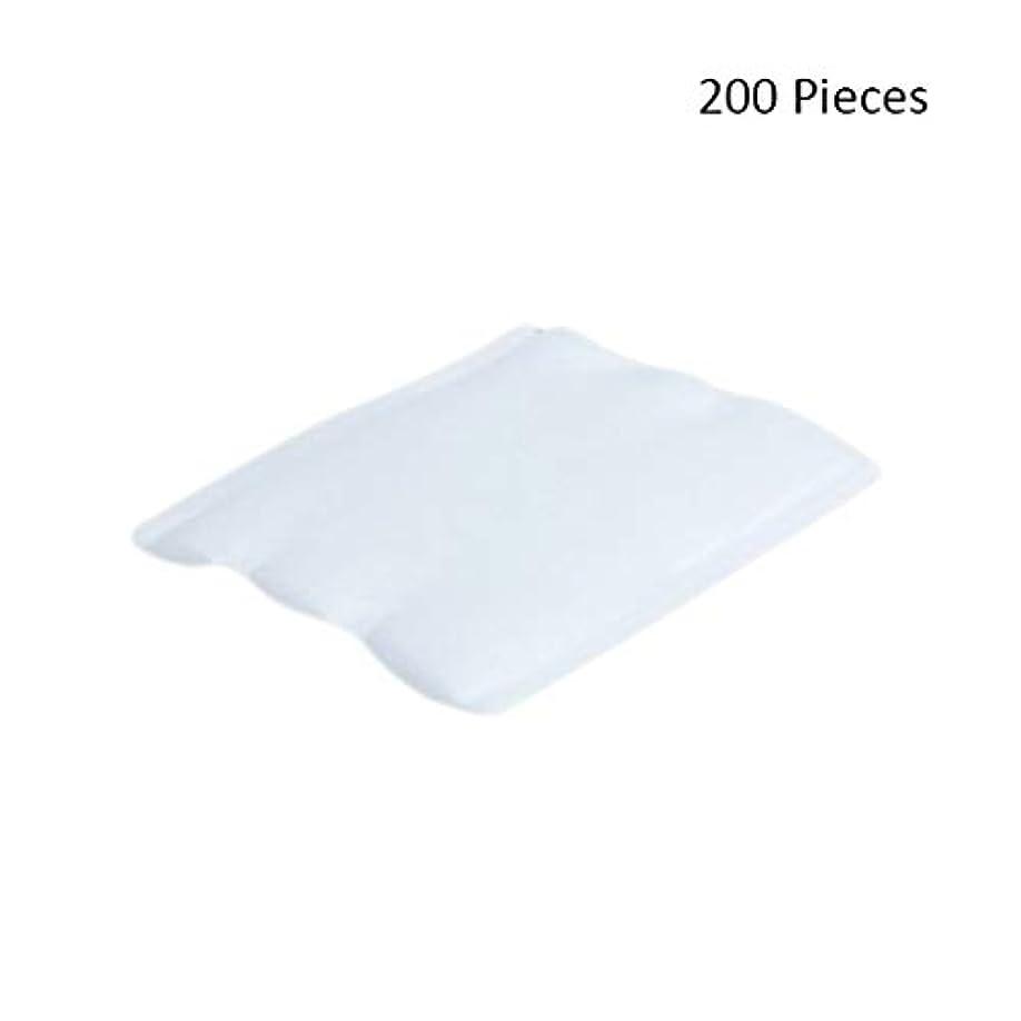 200ピースフェイスメイクアップリムーバーオーガニックフェイシャルクレンジングメイクアップ化粧品リムーバーワイプフェイスウォッシュスキンケアコットンパッド (Color : White, サイズ : 6*5cm)