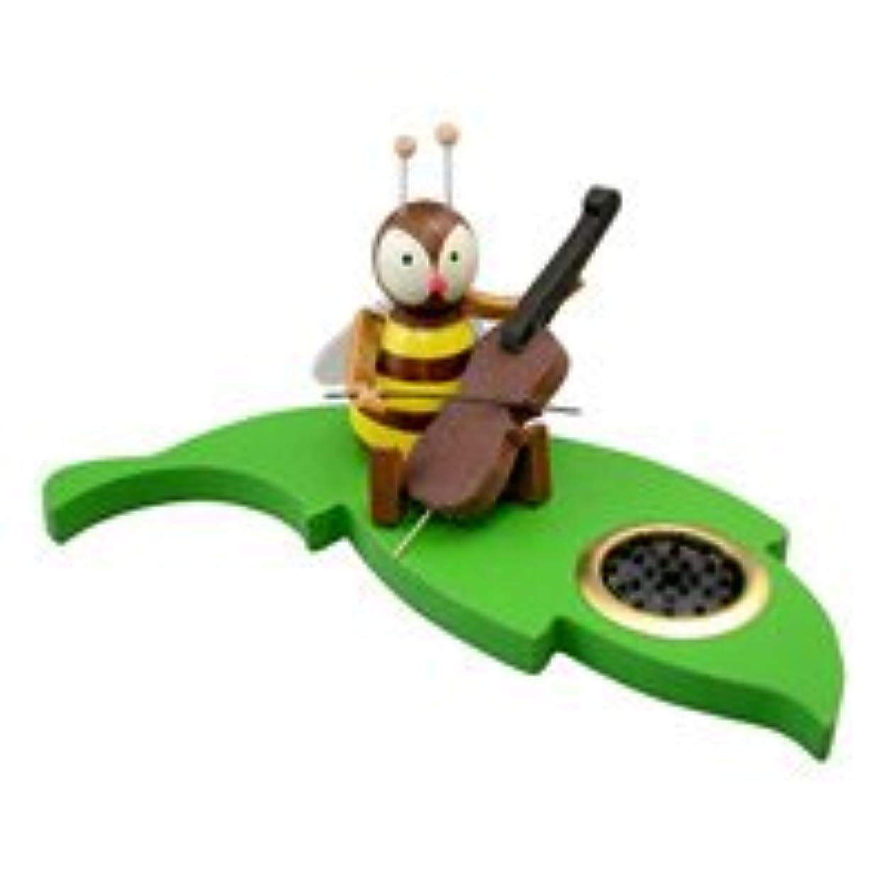 飛び込む冷える冷えるクーネルト インセンススタンド(香皿) ミツバチ チェロ