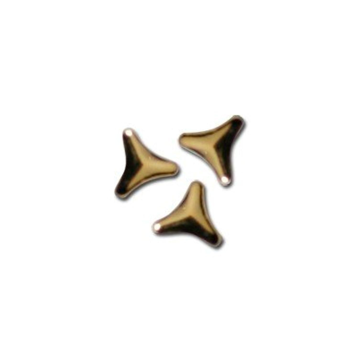 食べる非公式トリプルピアドラ スタッズ トライアングルマーク 2mm 50P ゴールド