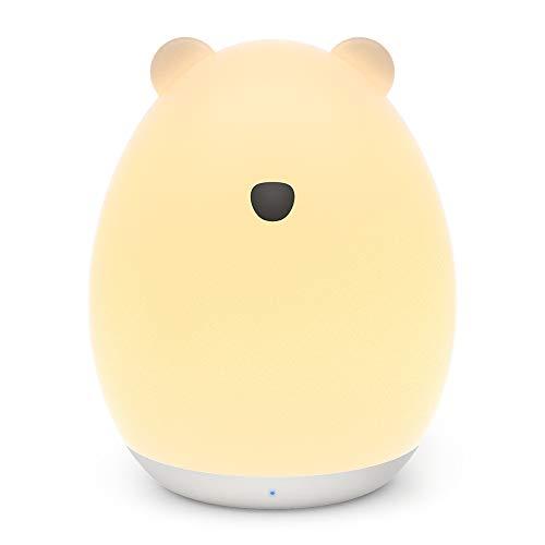 VAVA かわいいくま型 ナイトライト ベッドサイドランプ 【七色変換 100時間連続照明 タッチコントロール 授乳用 USB充電 子供安全素材】 間接照明 テーブルランプ プレゼント VA-CL012