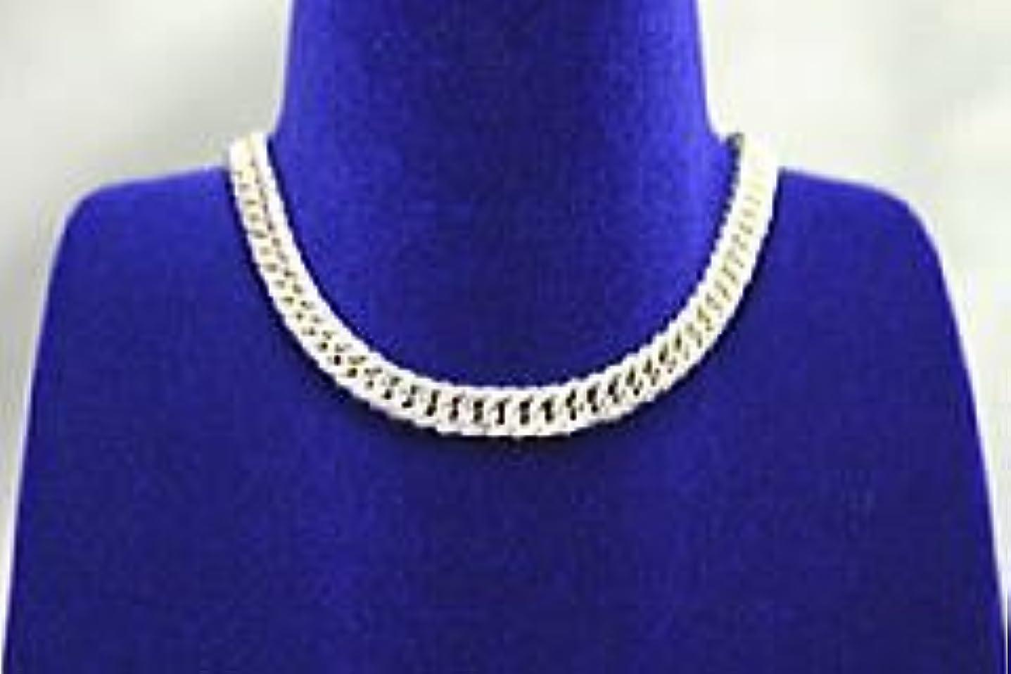ダンプ商人年齢シルバー&ゲルマニウムネックレス 細め幅3.5ミリ喜平鎖46センチ 日本製