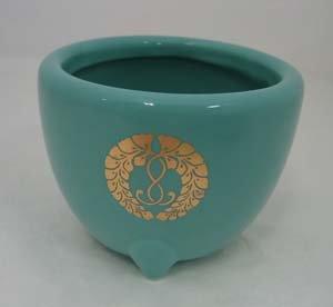 [해외]정토 진종 혼 간지 파의 흙 향로 (대) 깊이 7.2 × 구경 9.1 센티미터 宗紋入/Jodo Shinsh? Honjin school`s earth incense burner (large) Depth 7.2 x caliber 9.1 cm Munetime entry