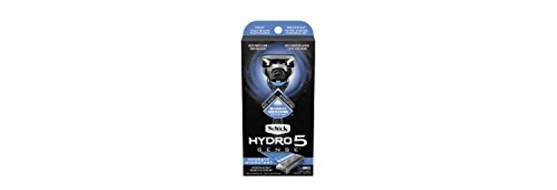 耐えられない発動機受動的Schick Hydro5 Sense Hydrate 1 handle + 2 razor blade refills シックハイドロ5センスハイドレート1個+剃刀刃2個 [並行輸入品]