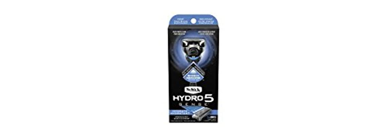 輝く雪だるま蜂Schick Hydro5 Sense Hydrate 1 handle + 2 razor blade refills シックハイドロ5センスハイドレート1個+剃刀刃2個 [並行輸入品]