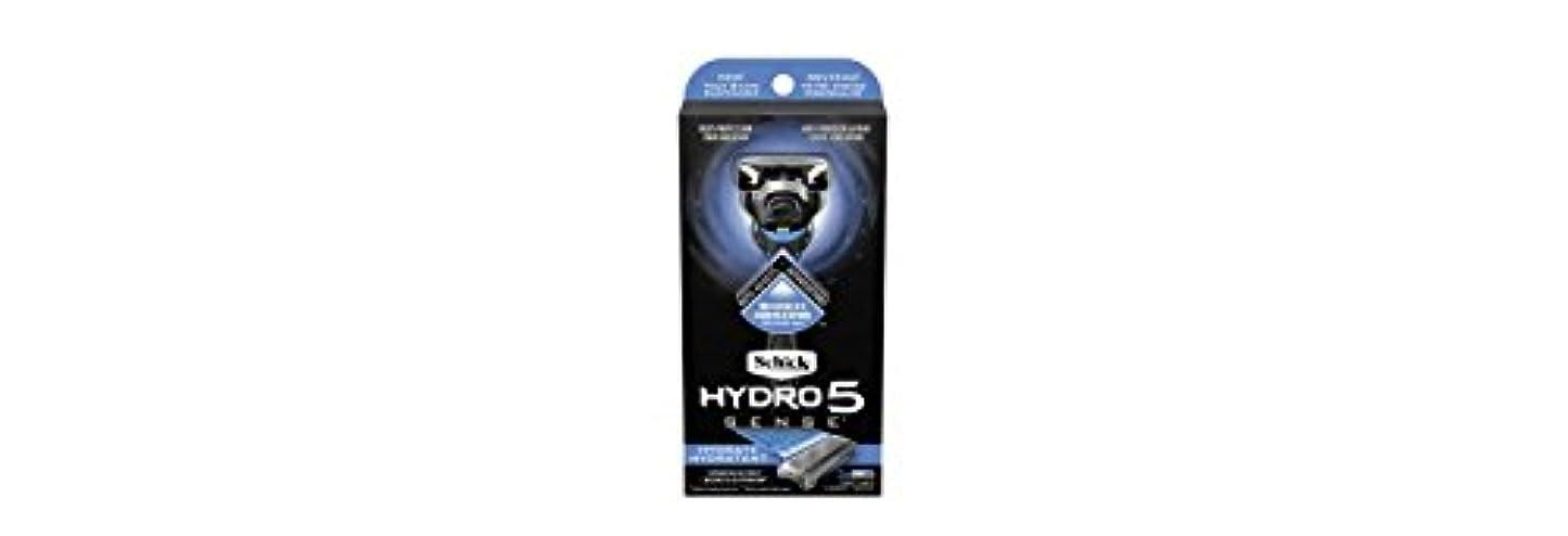 テレビを見るたとえ破滅Schick Hydro5 Sense Hydrate 1 handle + 2 razor blade refills シックハイドロ5センスハイドレート1個+剃刀刃2個 [並行輸入品]