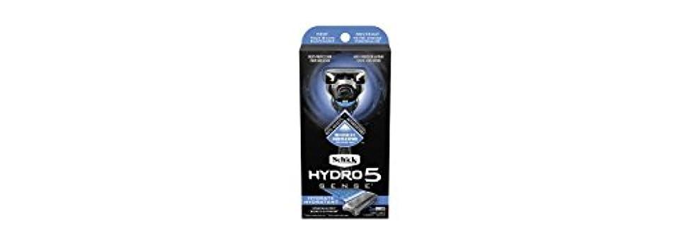 ブラザー遺伝子団結Schick Hydro5 Sense Hydrate 1 handle + 2 razor blade refills シックハイドロ5センスハイドレート1個+剃刀刃2個 [並行輸入品]