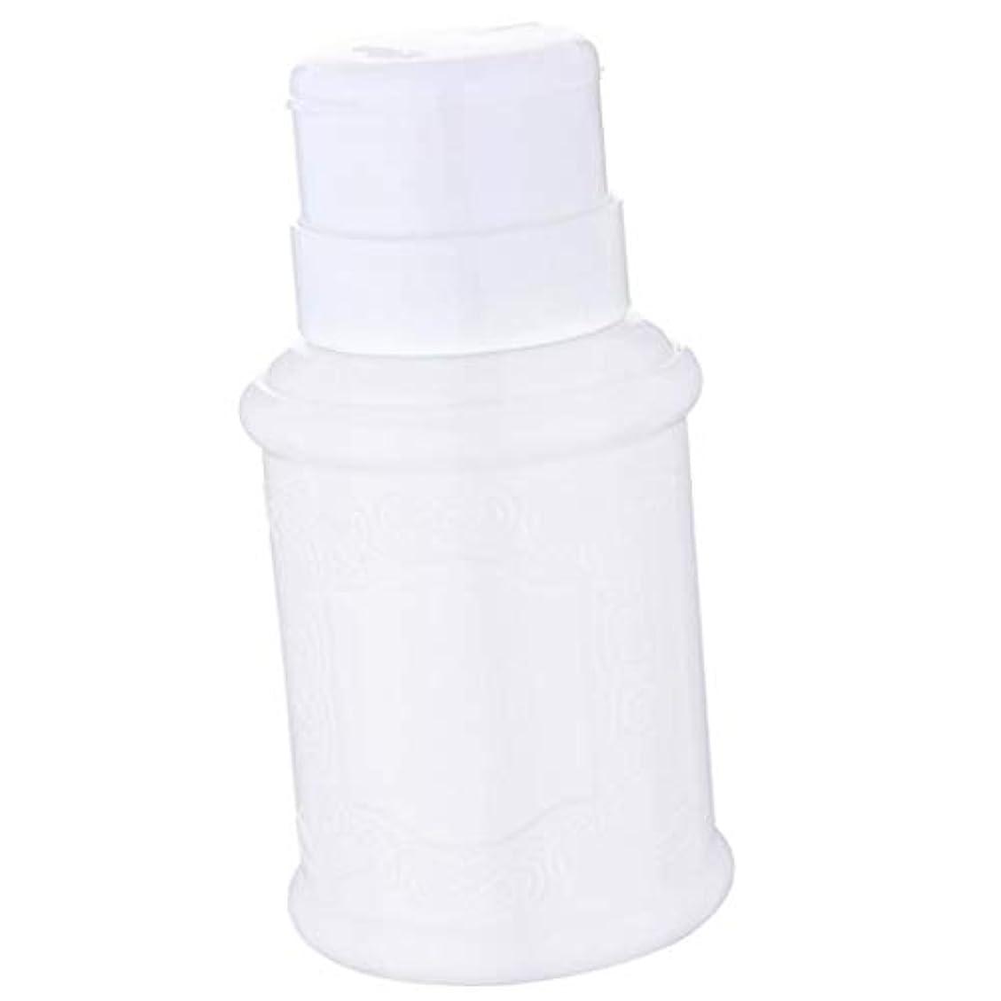 味わうオート脱走ポンプディスペンサー ネイル リットル空ポンプ ネイルクリーナーボトル 全3色 - 白
