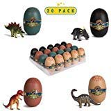 20 3D Dinosaur Puzzles in Dino Eggs - Jurassic Egg with Dinosaur Figures- Dinosaurs Toys for Kids Party Favors and Dinosaur P