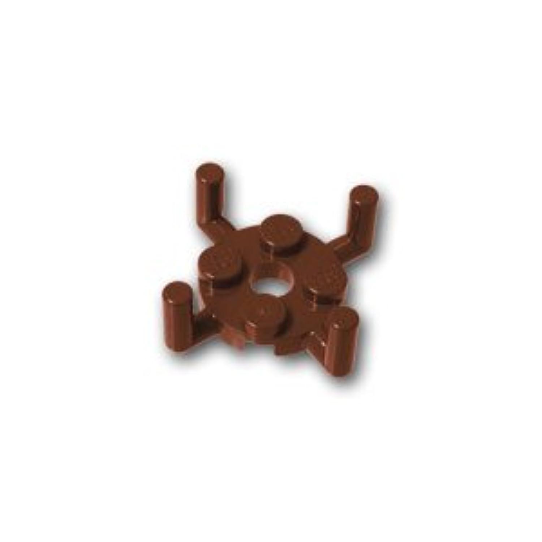 レゴブロックパーツ プレート 2 x 2 ラウンド ピンホール&4アーム:[Reddish Brown / ブラウン]【並行輸入品】