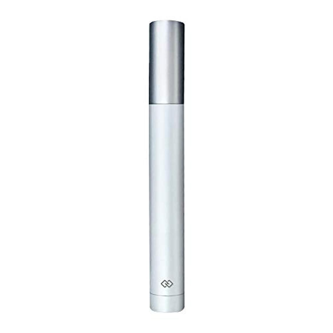 鼻毛トリマー-密閉防水効果/シングルカッターヘッドシャープで耐久性のある/男性用剃毛鼻毛はさみ/ポータブルデザイン、旅行に便利/ 12.9 * 1.65cm 使いやすい (Color : White)