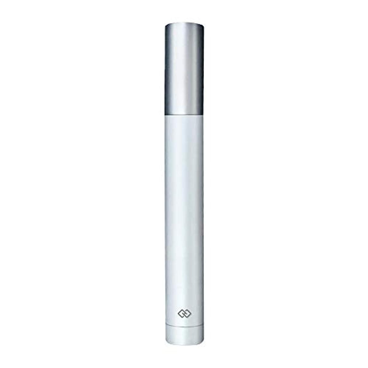 リンスミュージカルフットボール鼻毛トリマー-密閉防水効果/シングルカッターヘッドシャープで耐久性のある/男性用剃毛鼻毛はさみ/ポータブルデザイン、旅行に便利/ 12.9 * 1.65cm 操作が簡単 (Color : White)