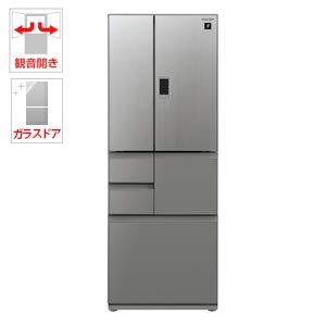 シャープ 502L 6ドア冷蔵庫(エレガントシルバー)SHARP プラズマクラスター冷蔵庫 SJ-GX50E-S
