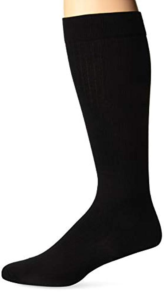 政治家の等しい九時四十五分Jobst for Men Compression Dress Socks 8-15 mmHg - Black - Medium - 110781