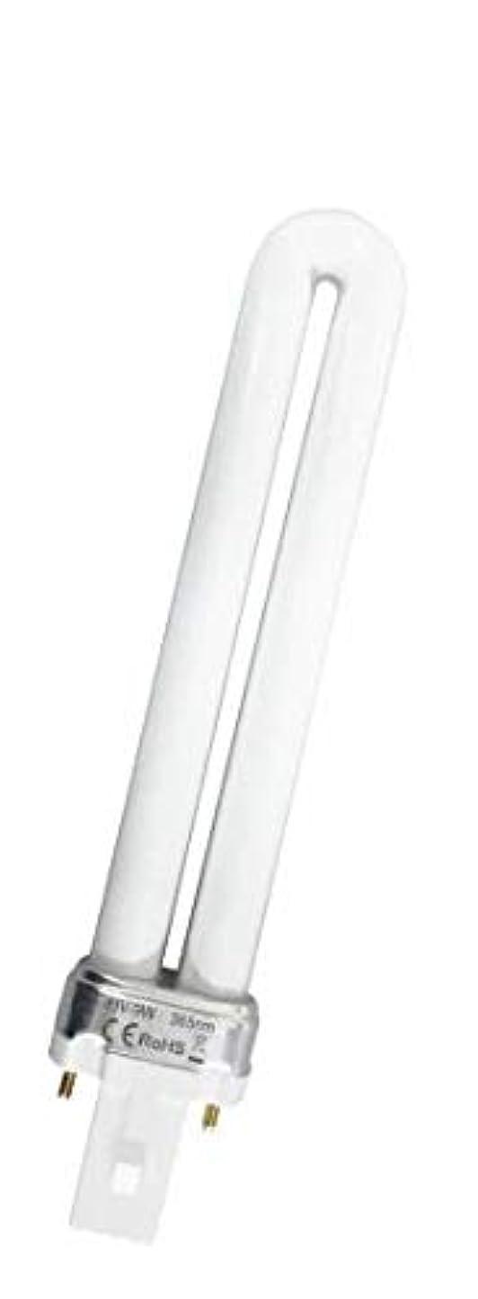 デコードする落ちた気取らないハイブリッドUV/LEDライト専用スペアUVライト 6本セット ALTS701 9W 交換用 蛍光管型 ハンド ジェル ネイル 硬化 UV LED ライト