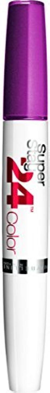 ガイダンス署名繁殖Maybelline SuperStay24H Dual Ended Lipstick 240 Plum Seduction 9ml by Maybelline
