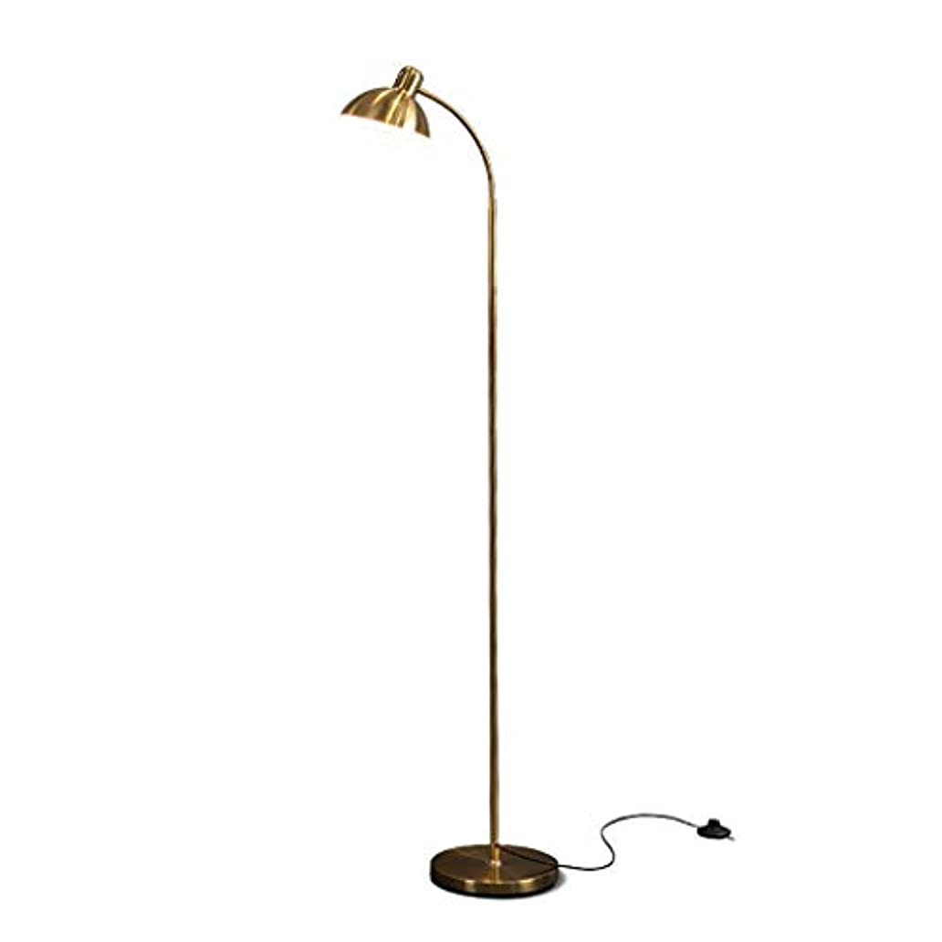 最小化する伝説手伝うモダンなスタイルゴールデンリビングルームのベッドルームスタディ垂直フロアランプ、単純な金属製ランプボディ基本設計、高い130センチメートル フロアスタンド?ランプ