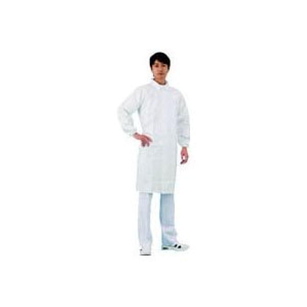 宙返りコーチメーカーデュポン 白衣 袖口ゴム入M 4251M