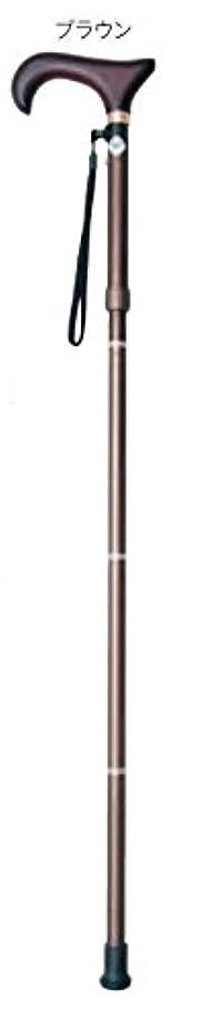 刃超える検索エンジン最適化フランスベッド メデカルサービス プルストップ伸縮折畳み杖 (ブラウン色) 婦人向け(75.5~83cm)