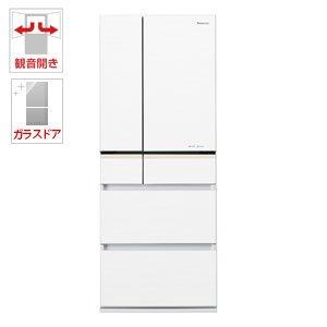 パナソニック 470L 6ドア冷蔵庫(スノーホワイト)Pana...