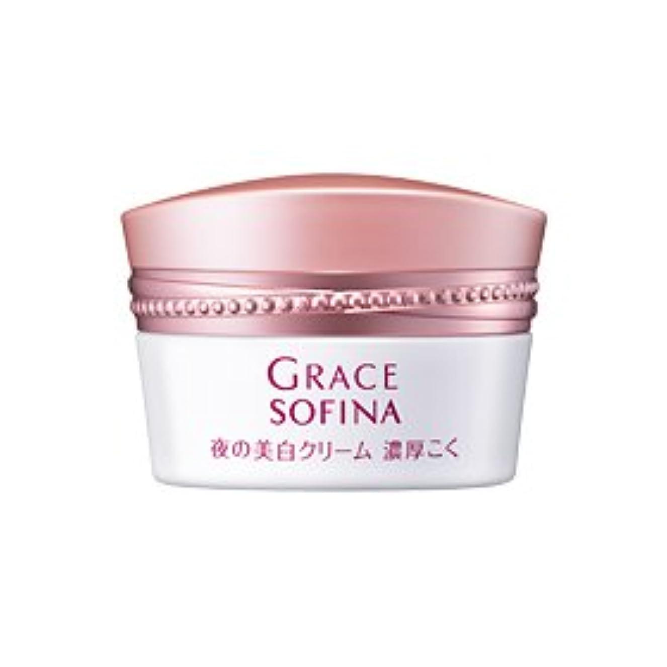 貫通する従事する貫通する花王 グレイスソフィーナ 薬用 夜の美白クリーム 濃厚こく 32g cs