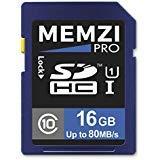 Memzi Pro 16GBクラス1080MB / s SDHCメモリカードfor Kodak Pixpro fz201, fz151、fz53、fz52、fz51、fz43、fz42、fz41、S - 1デ..