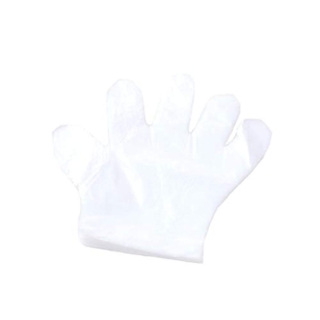 技術的なマージンサンダル手袋、使い捨て手袋、プラスチック透明な使い捨て手袋、衛生的な食品、100スーツ。 (UnitCount : 2000only)