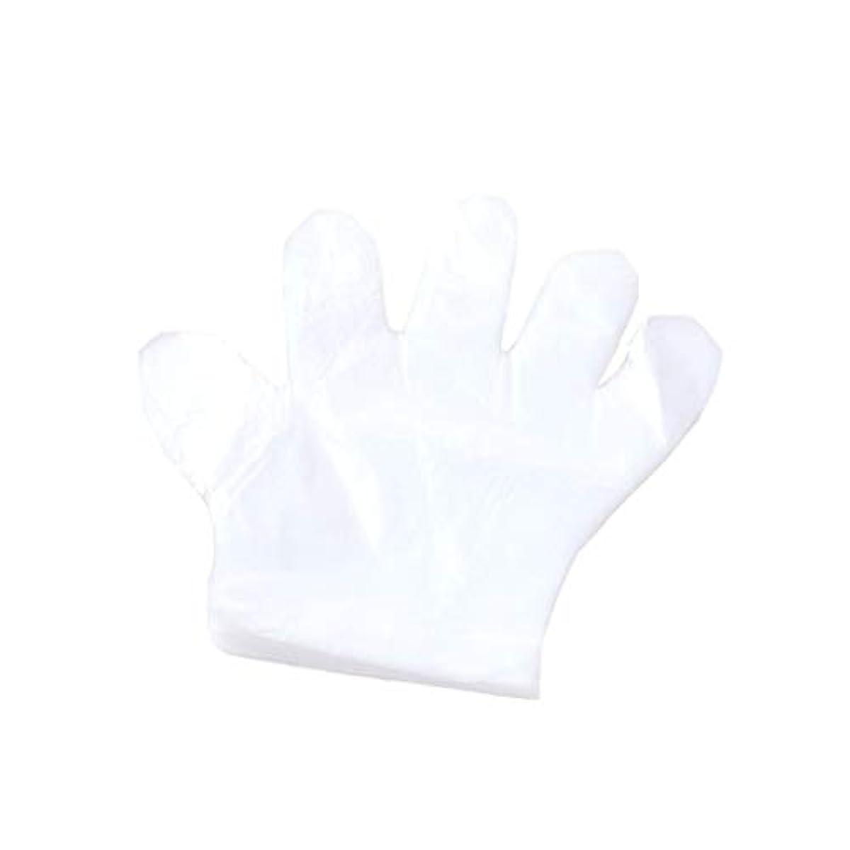 不透明な見える反逆者手袋、使い捨て手袋、プラスチック透明な使い捨て手袋、衛生的な食品、100スーツ。 (UnitCount : 2000only)