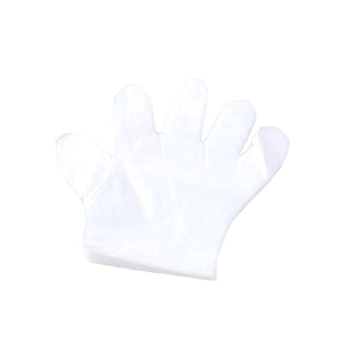 セッティング消すさらに手袋、使い捨て手袋、プラスチック透明な使い捨て手袋、衛生的な食品、100スーツ。 (UnitCount : 2000only)