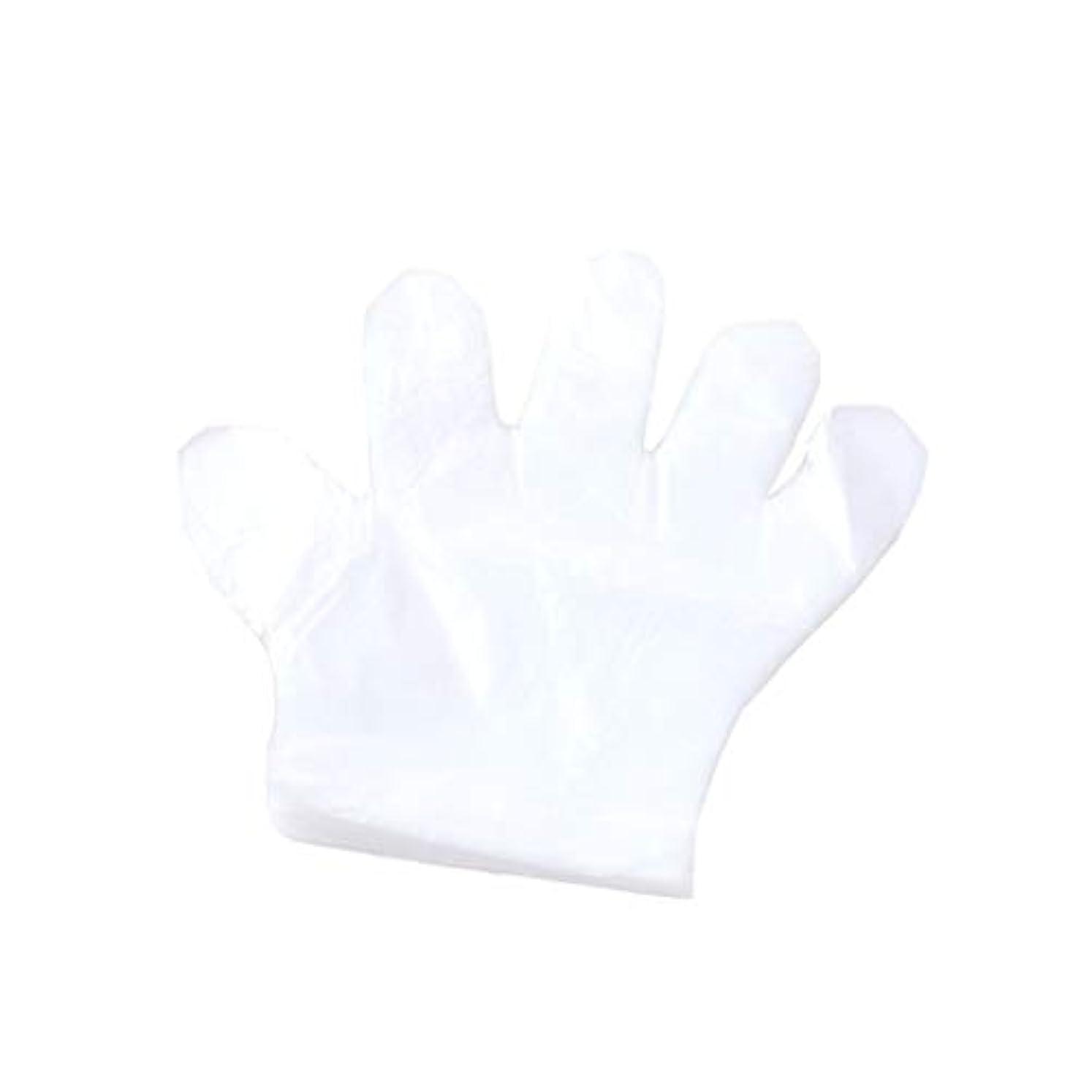 治安判事節約メイド手袋、使い捨て手袋、プラスチック透明な使い捨て手袋、衛生的な食品、100スーツ。 (UnitCount : 2000only)