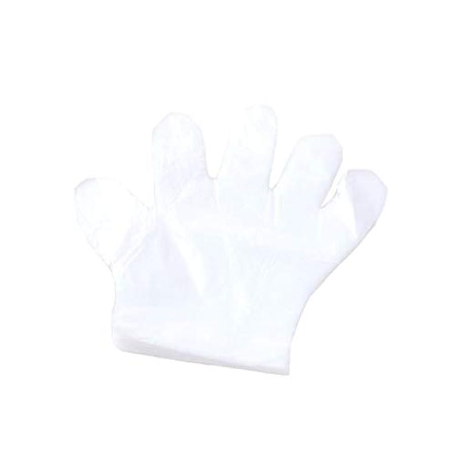 手袋、使い捨て手袋、プラスチック透明な使い捨て手袋、衛生的な食品、100スーツ。 (UnitCount : 2000only)