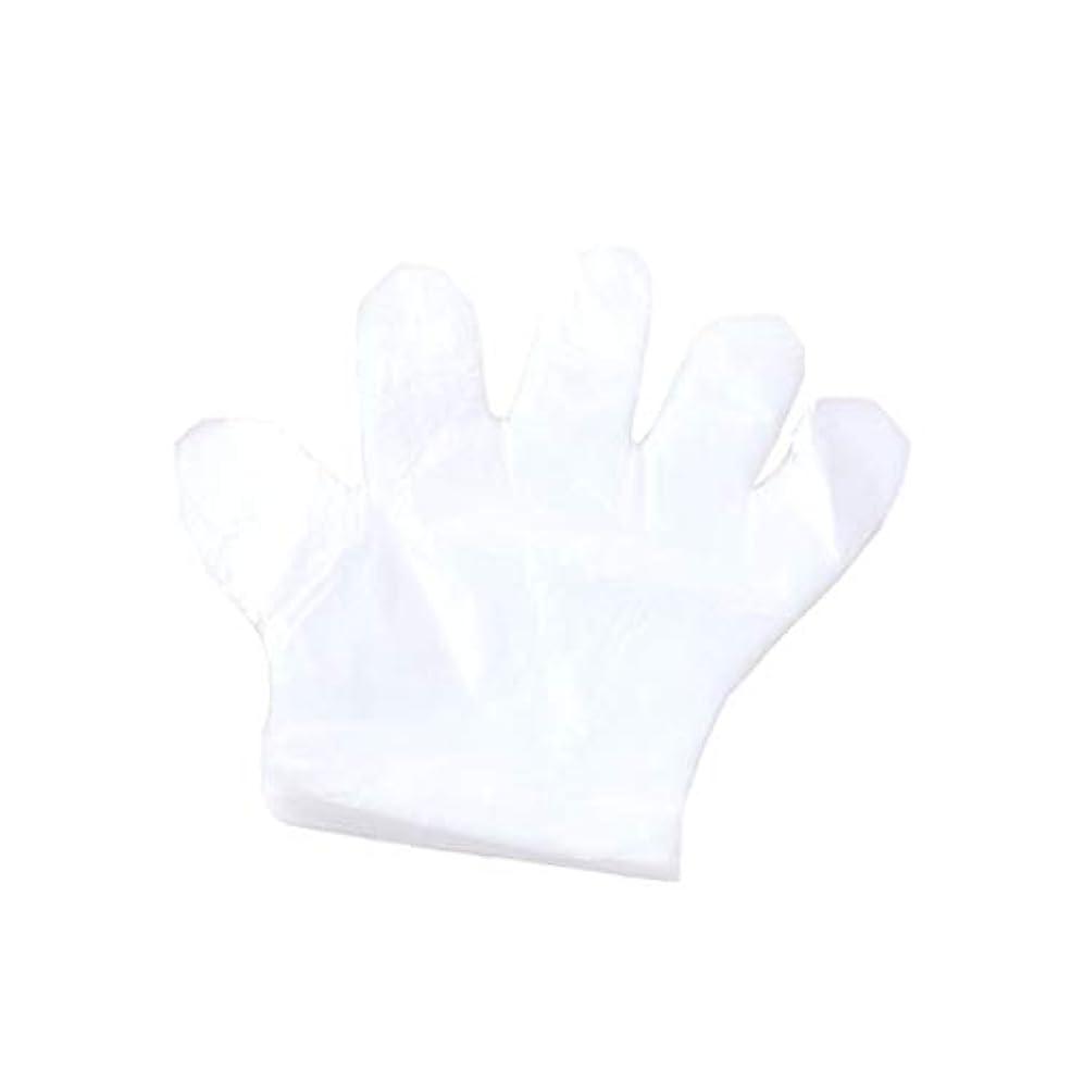 バンカー不毛初期の手袋、使い捨て手袋、プラスチック透明な使い捨て手袋、衛生的な食品、100スーツ。 (UnitCount : 2000only)