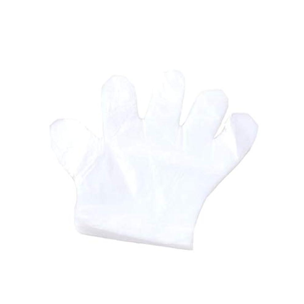 ストレージ着る納屋手袋、使い捨て手袋、プラスチック透明な使い捨て手袋、衛生的な食品、100スーツ。 (UnitCount : 2000only)
