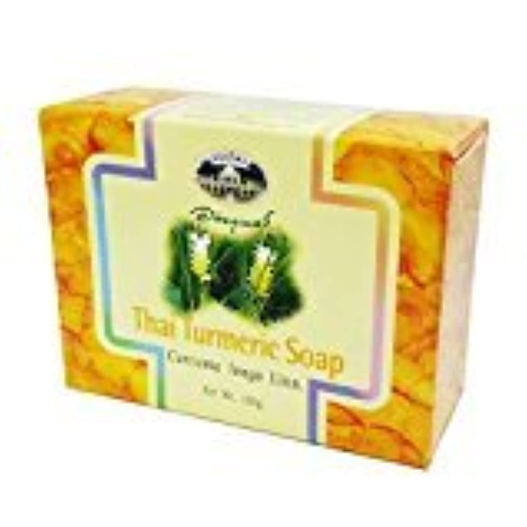 ホイスト電気の変位ウコン石けん abhaibhubejhr Turmeric soap 100g