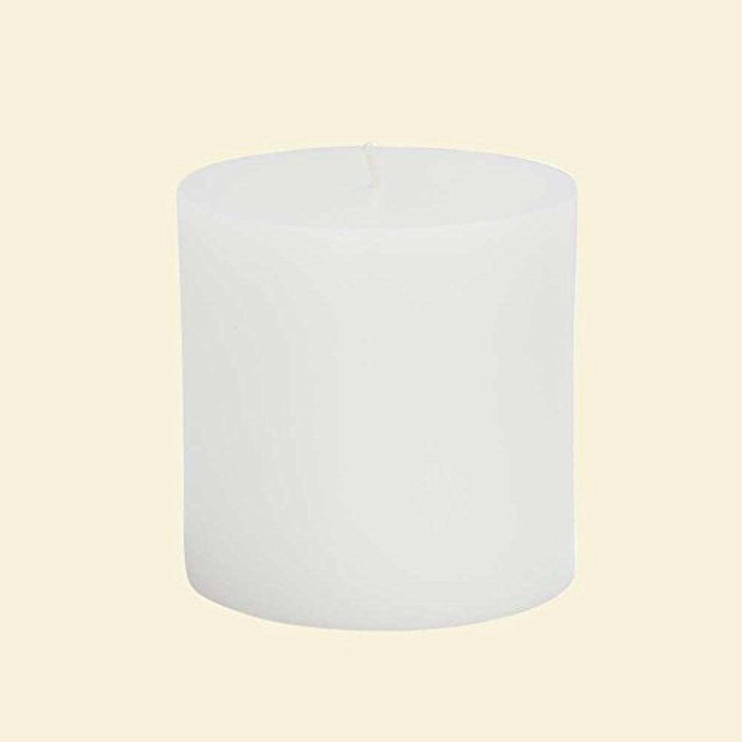 中央個人的なデュアルZest Candle CPZ-071-12 3 x 3 in. White Pillar Candles -12pcs-Case- Bulk