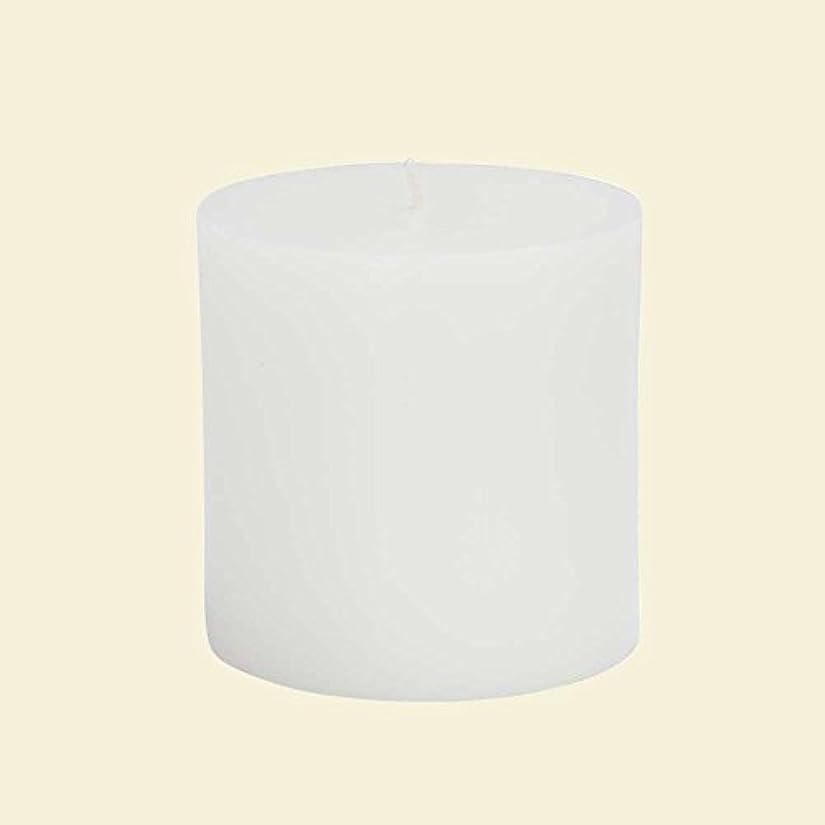 包帯日食二層Zest Candle CPZ-071-12 3 x 3 in. White Pillar Candles -12pcs-Case- Bulk