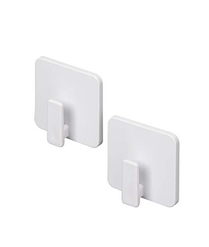東和産業 浴室用ラック ホワイト 約4.6×1.6×4.5cm 磁着SQ マグネット バスフック ミニ 39198 2個入