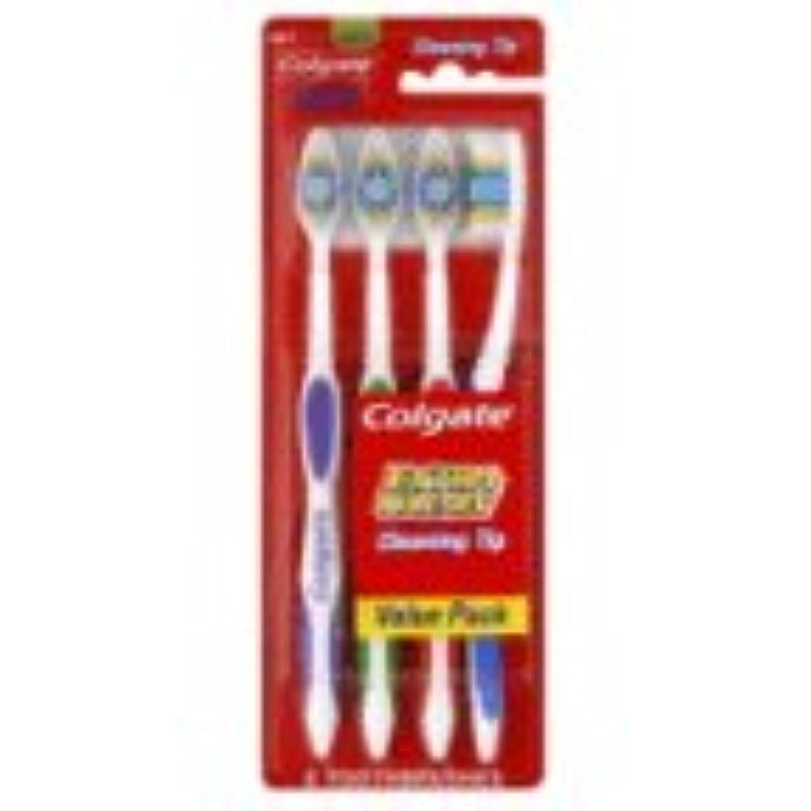 小麦粉幽霊申請中Colgate 歯ブラシ、完全な頭部、メッド441、バリューパック4 CT(6パック)