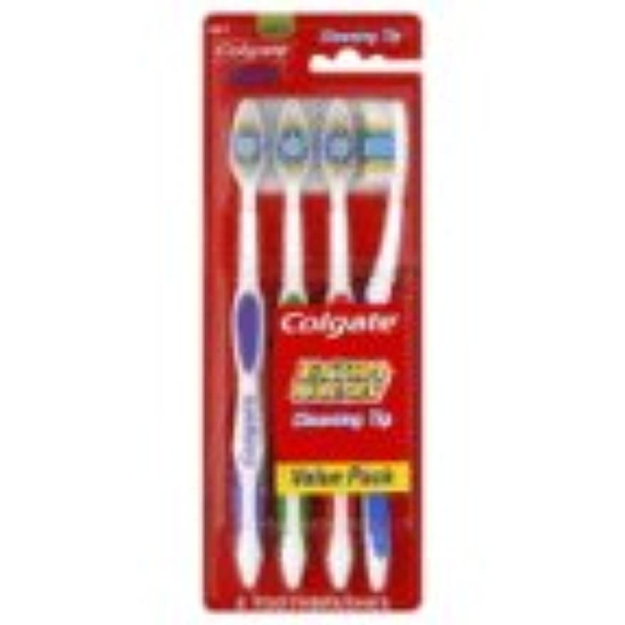 改善する有力者怒っているColgate 歯ブラシ、完全な頭部、メッド441、バリューパック4 CT(6パック)