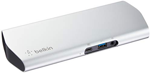 belkin USB Type-Cドック Macbook/Macbook Pro 2016/2017対応 60w給電 ケーブル1m付 Express Dock HD F4U093JA-A