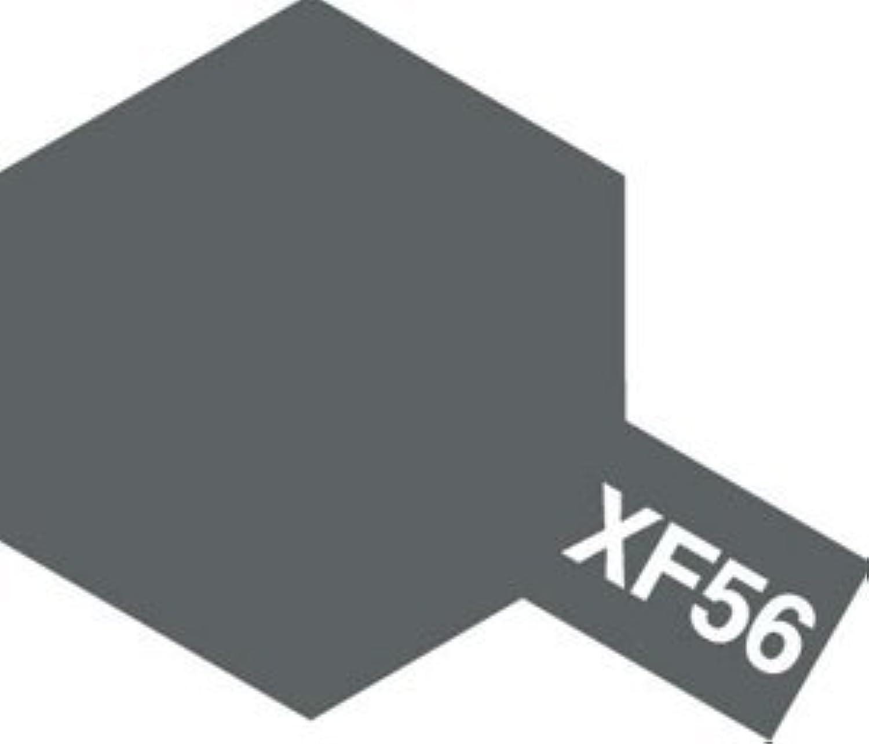 タミヤカラー アクリル塗料ミニ XF56 メタリックグレイ (つや消し FLAT)